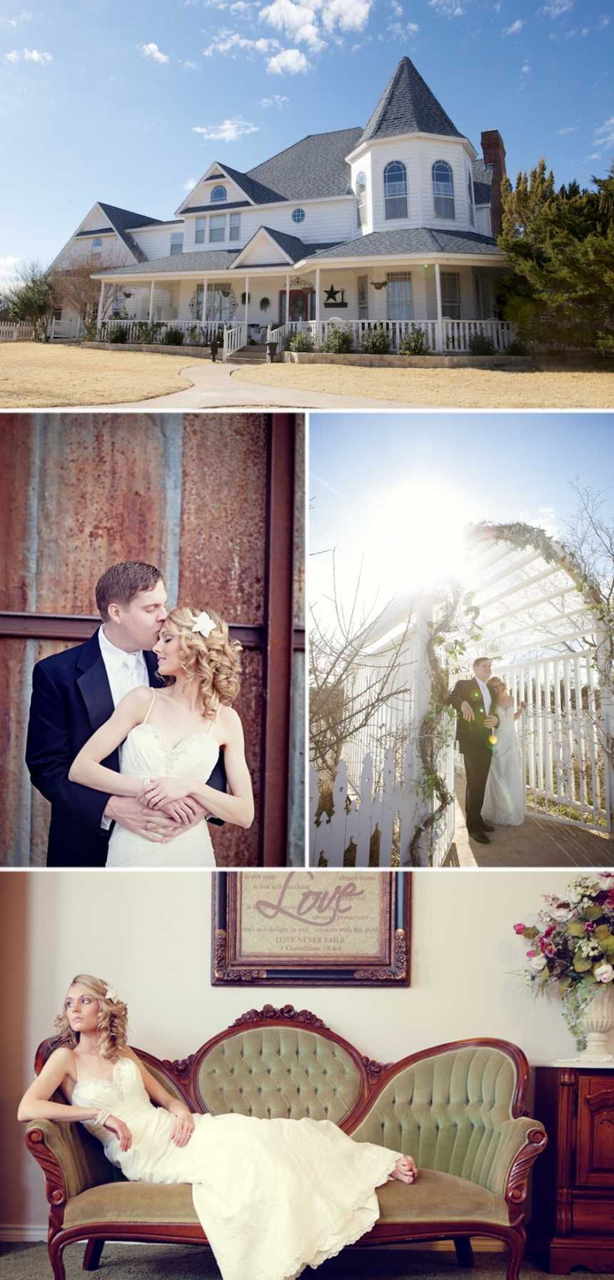 Abilene wedding photographer Jennifer Nieland of A Moment in Time Photography photographed Bryan Sickles and Julie Swart, now Julie Sickles, wedding at Lytle Cove Cottage outside of Abilene, Texas.