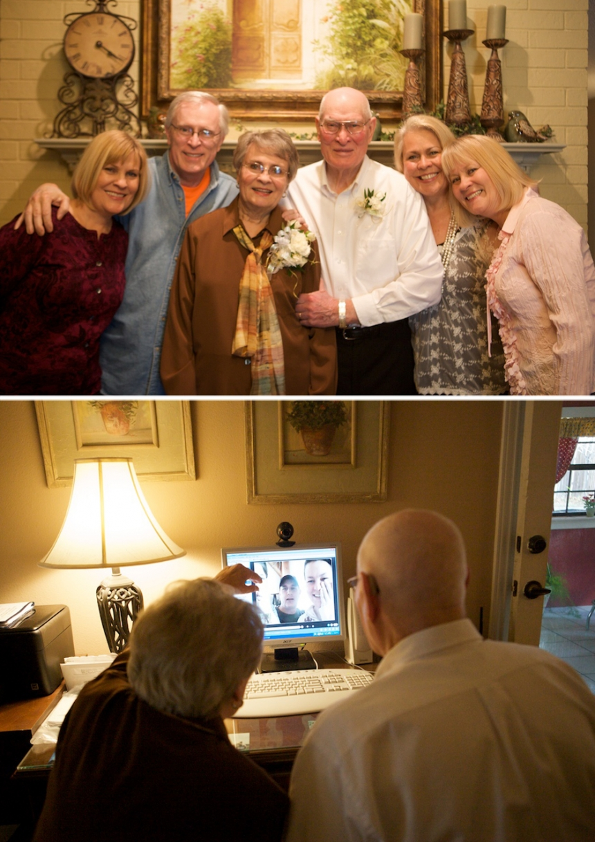Charlie Shanks and LaRue Tate Shanks celebrated their 60th wedding anniversary in Midland, Texas among family and friends, with the granddaughter, photographer Jennifer Nieland taking photos.