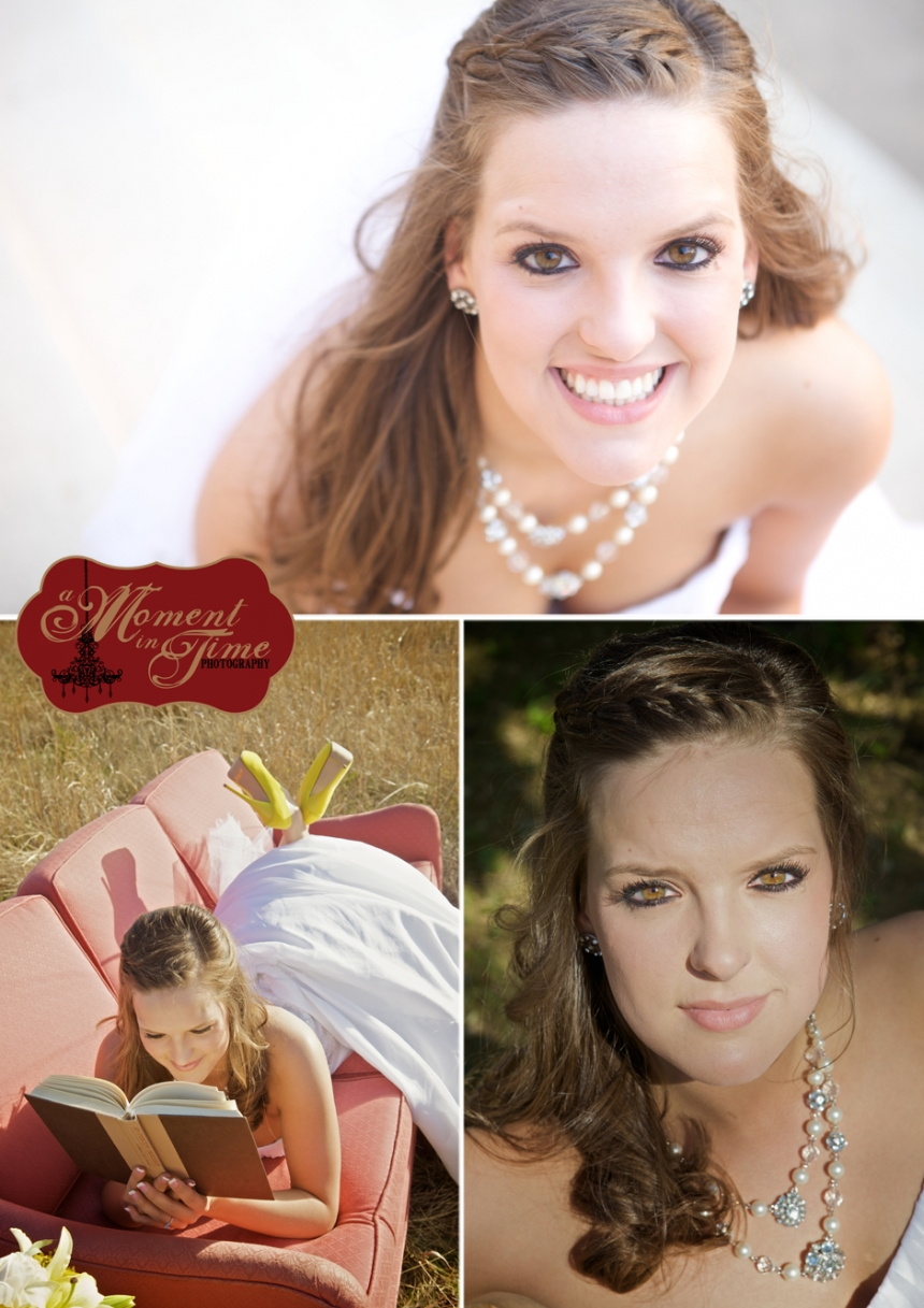 Amanda Jinkerson, now Amanda Carpenter, chose Abilene, Texas wedding photographer Jennifer Nieland of A Moment in TIme Photography to photograph her bridal portraits in Buffalo Gap, Texas, as well as her wedding at Miller Ranch in Lawn, Texas.