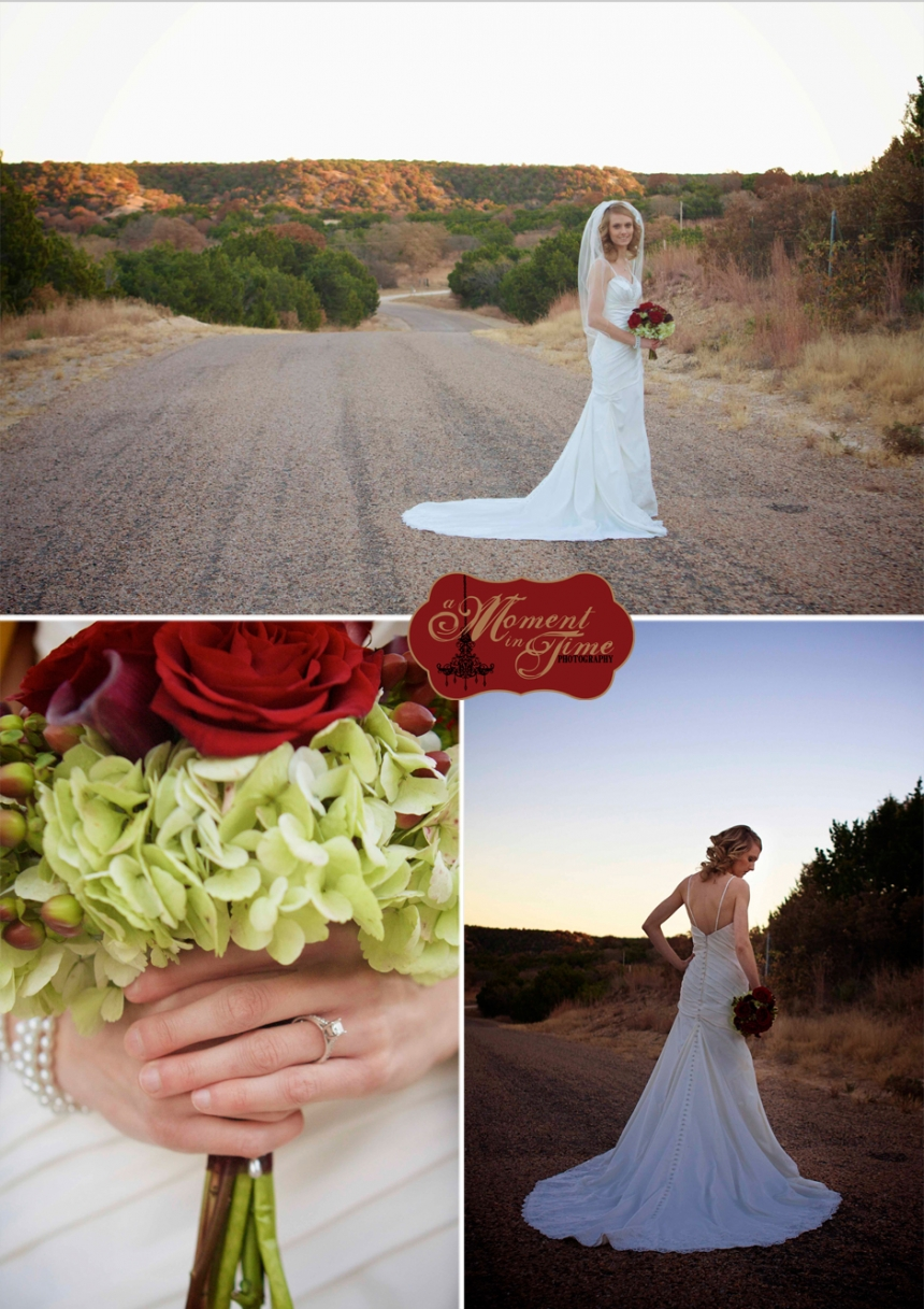 A Moment in Time Photography, owned by Jennifer Nieland, took Julie Swart, now Julie Sickles bridal portraits in and around Abilene, Texas. Abilene wedding photography A Moment in Time Photography.