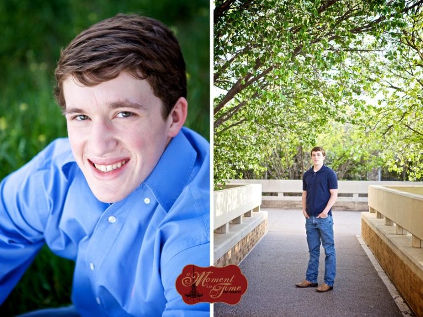 Joshua Edwards, or Josh Edwards, chose Abilene senior photographer or senior portrait photos photographer Jennifer Nieland of A Moment in Time Photography to take his rustic senior photos.