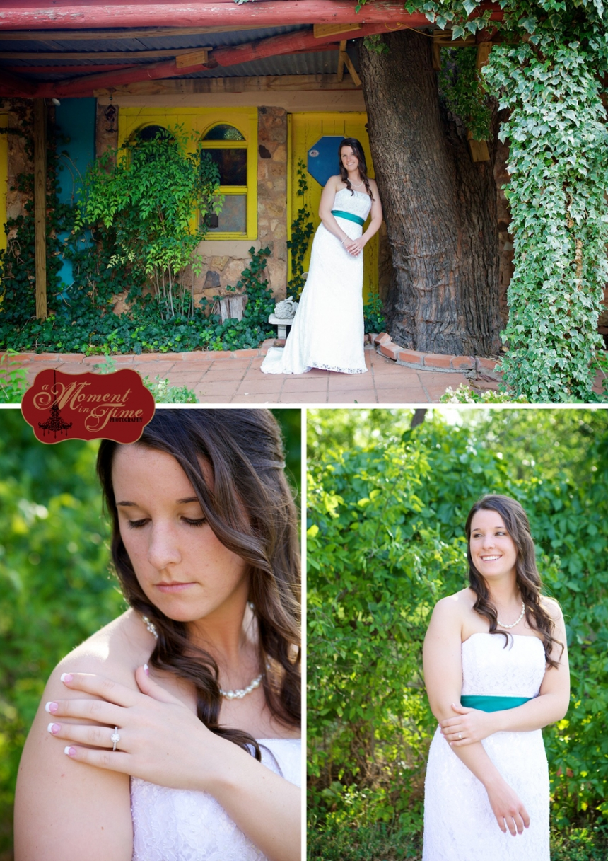 Abilene, Texas brides chose vintage rustic bridal photographer Jennifer Nieland of A Moment in Time Photography to take her Abilene Texas bridal portraits in a vintage bridals style.