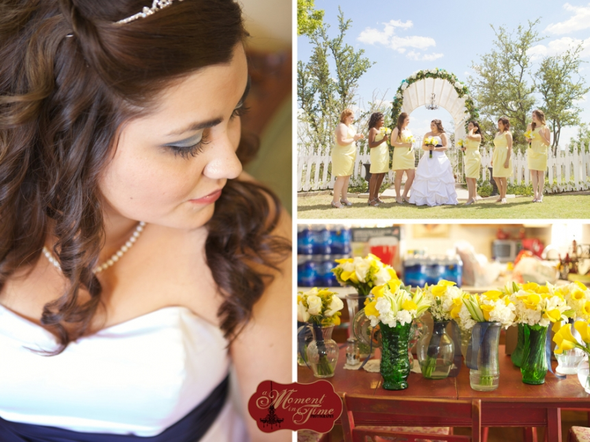 Vintage rustic wedding photographer Jennifer Nieland took the Abilene wedding photography photos for Brittany Moreno, now Brittany Lucus, and Weston Lucus out at Lytle Cove Cottage in Abilene, Texas with Misty
