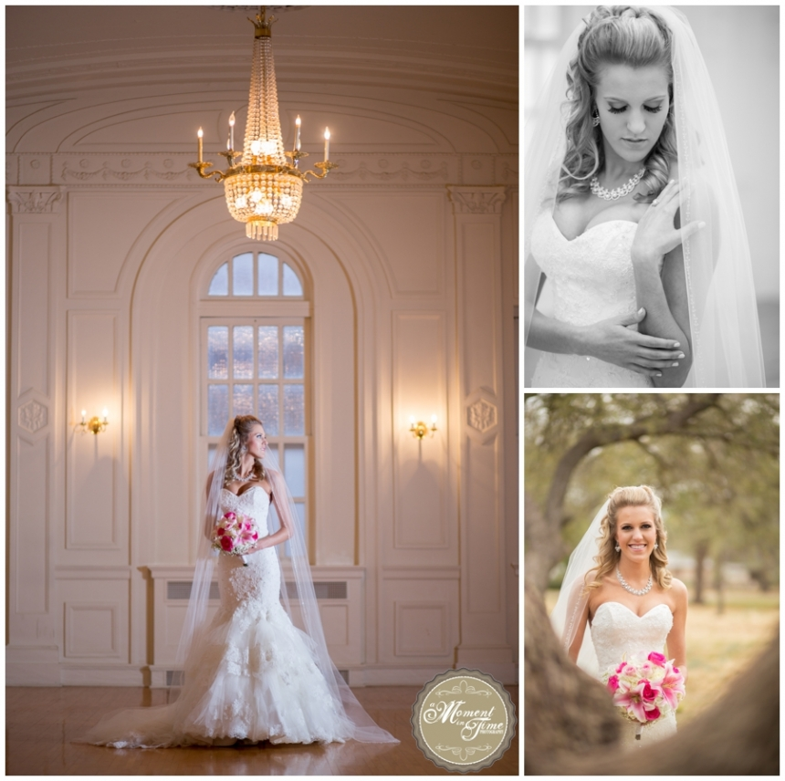 Kami Bellah, now Kami Schuchart, chose A Moment in Time Photography by Jennifer Nieland to take her beautiful bridal photography. Bridal photography at The Windsor in Abilene, Texas. Buffalo Gap bridal session with Kami Bellah.