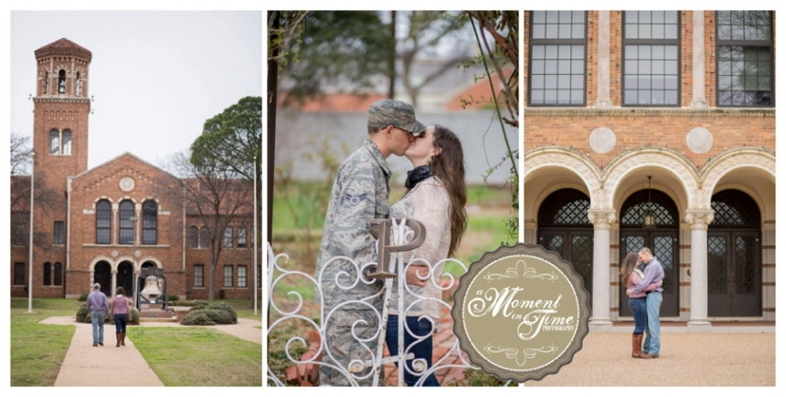 Kirsten Smith, Mike Price, engagement session, Wichita Falls engagement, Wichita Falls downtown, Kell House downtown, Midwestern State University, MSU, Air Force Engagements, Kirsten and Michael