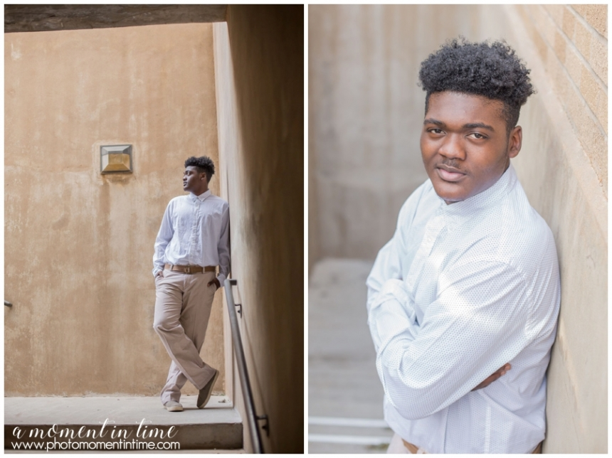 Marques Toney son of Cynthia Thomas had his high school senior photos or senior session taken by Jennifer Nieland of A Moment in Time Photography in Abilene, Texas. Abilene Texas senior photographer A Moment in Time photography in west Texas styled high school senior portraits fun senior photos urban senior photos in Texas.